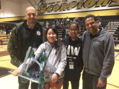 Some of the members pose with their supervisors and their robot. Credit: Tammer Bagdasarian '20 / SPECTRUM