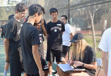 Greenwood takes attendance for a ninth grade PE class during 9th period. Credit: Jeanine Kim '20 / SPECTRUM
