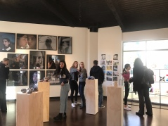 Students, parents, and teachers observe different pieces of art displayed at the Arlene Schnitzer Gallery. Credit: Astor Wu '20/SPECTRUM