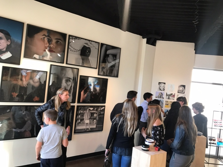 Works from the Photography and the Introduction to Visual Arts classes were one of the many works put up in the show. Credit: Astor Wu '20/SPECTRUM